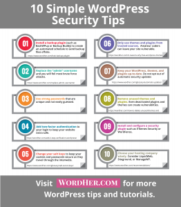 Easy to implement security tips for your WordPress site.