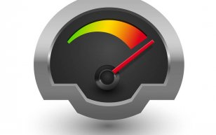 Chrome Speedometer Illustratio