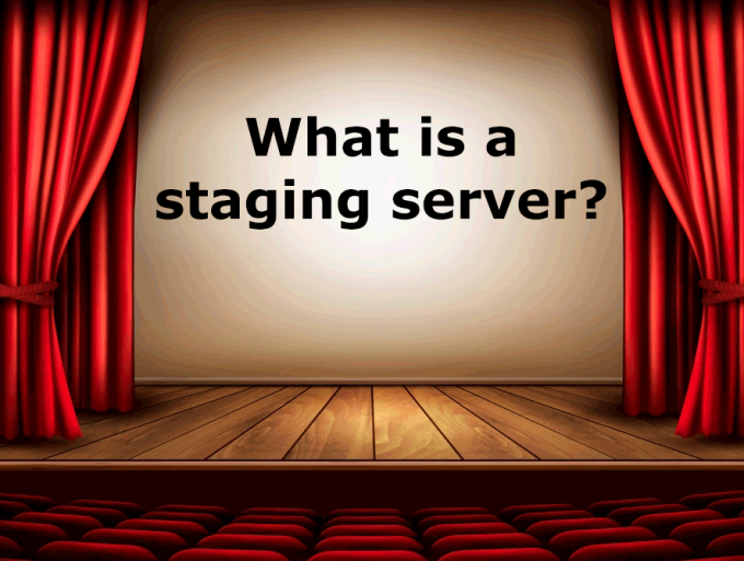 What is a staging server?