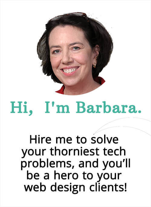 Barbara Feldman, of WordHer.com, is a #WordPress troubleshooter with a focus on solving tech problems for web designers, virtual assistants, digital agencies.