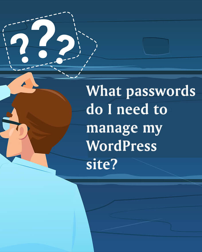 It takes more than an admin password to be in control of a #WordPress website. Do you know all your credentials?  Download our free bonus Credentials Checklist.