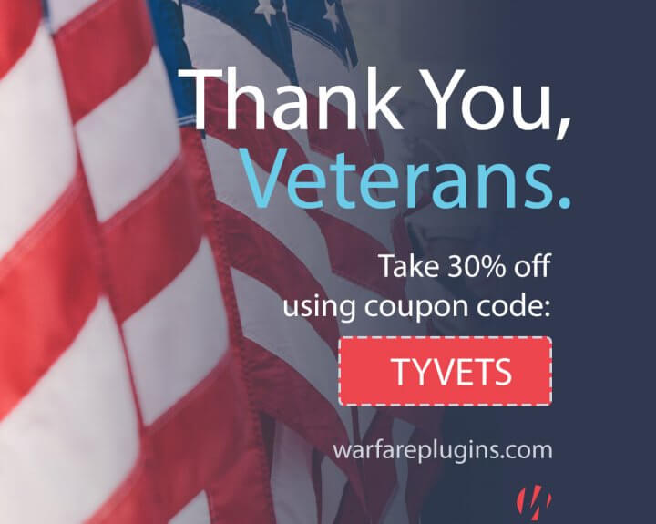 Veterans Day Sale Warfare